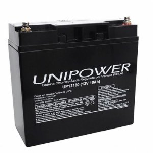 Bateria Selada VRLA 12V 18A UP12180 UNIPOWER
