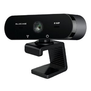 Webcam 4K 8MP c/Microfone BWEBUHD Bluecase