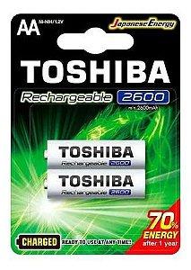 Pilha Recarregável Toshiba TNH-6GAE 1,2V AA 2 Unidades
