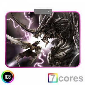 Mouse Pad Gamer RGB Black Dragon 800x300 KP-S012 Knup