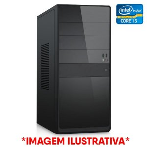 COMPUTADOR CIA CORPORATE VI, INTEL CORE I5 760, PLACA MÃE H55, MEMORIA 8GB DDR3, SSD SATA 256GB, GABINETE BASICO PRETO, PLACA DE VIDEO GT1030 2GB