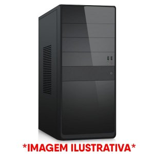 COMPUTADOR CIA CORPORATE IX, INTEL DUAL CORE G2030, PLACA MÃE B75M, MEMORIA 4GB DDR3, HD 320GB, GABINETE BASICO PRETO
