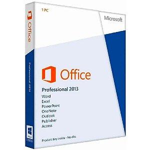 Microsoft Office Professional 2013 Chave-Licença PT-BR Física