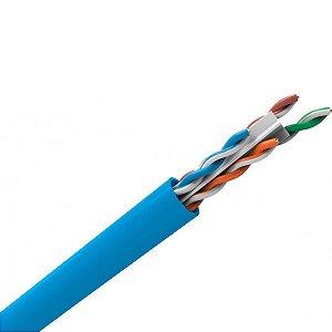 Cabo de Rede CAT6 100% Cobre Homologado Azul (1 Metro)
