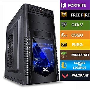 Computador Gamer CIA HOPE I3 10100F, PLACA MÃE BIOSTAR H410, MEMORIA 8GB DDR4, SSD 256GB, GABINETE ORION, FONTE 400W, GTX 750Ti 2GB