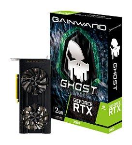 Placa de Vídeo GeForce RTX 3060 12GB Ghost Edition  DDR6 192BITS Dual Fan GainWard