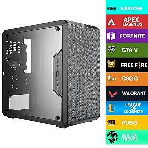 Computador Gamer CIA STRICT I7 10700F, PLACA MÃE ASUS H410M-D, MEMORIA 32GB DDR4, SSD M.2 512GB, GABINETE COOLERMASTER, FONTE 750W, GTX 1660 SUPER, WATER COOLER RGB