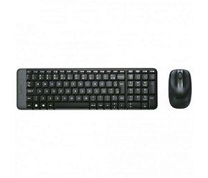 KIT Teclado + Mouse Sem Fio 2,4GHz MK220 Logitech