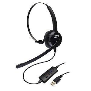 Headset Monoauricular USB Controle de Volume DH-80 Zox