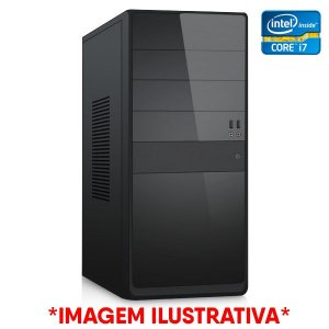 COMPUTADOR CIA CORPORATE XVI, INTEL CORE I7 2700k, PLACA MÃE B75, MEMORIA 8GB, SSD SATA 480GB