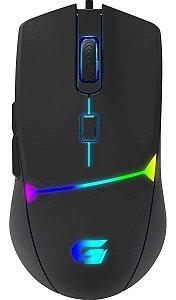 Mouse Gamer RGB Rainbow 7200dpi 6 Botões Cruisader Fortrek