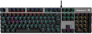 Teclado Mecânico Switch KRGD Blue LED Rainbow BlackHawk Fortrek