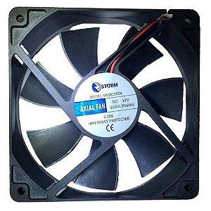 Cooler Fan 120MM 12v Refrigeração 2400RPM Storm Preto