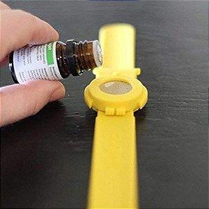 Pulseira para usar com óleo essencial repelente de insetos