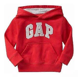 Moletom - GAP vermelho com capuz e bolso