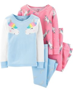 Pijama confortável Unicórnio - 4 peças