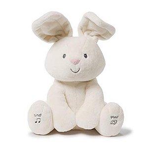 Pelúcia - Coelho que canta, move suas orelhas e encanta as crianças