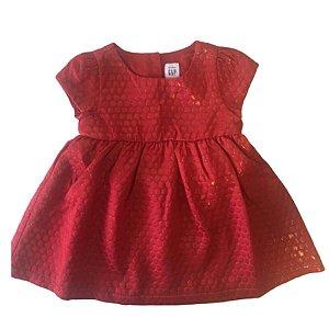 Vestido GAP - vermelho com nuance metálico suave no dourado