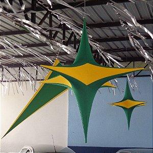 Estrela de Tecido p/ Decoração 1.50 cm²
