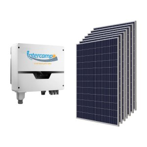KIT (225Kwh-1,485KWp) 1Inversor 3K + 5Módulos Policristalinos + 1String Box