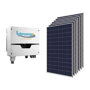 KIT (495Kwh - 3,267KWp) 1Inversor 5K + 11Módulos Policristalinos + 1String Box