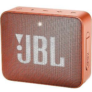 Caixa de som JBL GO 2 Laranja - Bluetooth | À Prova D'Água - 1 ano de garantia