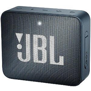 Caixa de som JBL GO 2 Azul Marinho - Bluetooth | À Prova D'Água - 1 ano de garantia