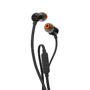 Fone de ouvido JBL T110 com fio - Preto