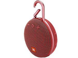 Caixa de som JBL CLIP 3 Vermelho| Bluetooth | À Prova D'Água - 1 ano de garantia