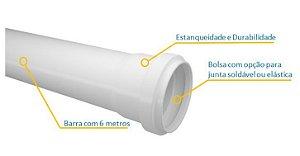 Tubo Esgoto SN DN - 6mts - FORTLEV (normatizado e aprovado)