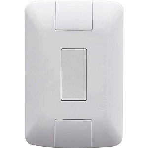 Conjunto Interruptor Simples 10A/250V 4x2 Branco Aria