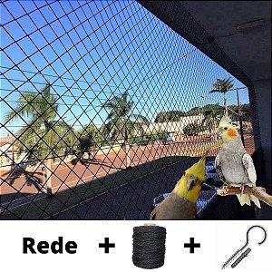 Kit Completo Rede De Proteção Calopsitas, Aves- Malha 3cm