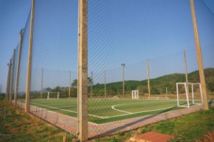 Rede de Proteção Esportiva Sob Medida Para Cobertura de Campo/Quadra de Futebol e Society