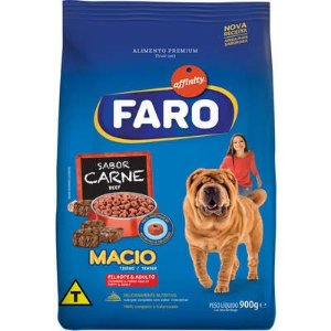 Ração  Faro Affinity Macio Cães Filhotes e Adultos Carne 900G