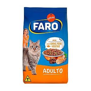 Ração Faro Affinity Mix Sabor Carne, Peixe e Vegetais para Gatos Adultos