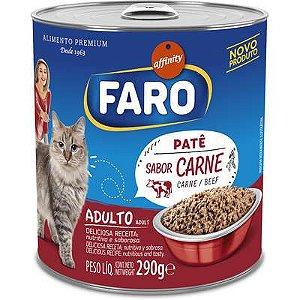 Ração Úmida Faro Affinity  Lata Patê Sabor Carne para Gatos 290G