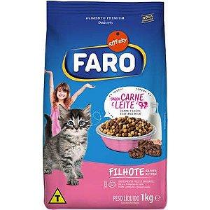 Ração Faro Affinity  Carne e Leite para Gatos Filhotes 10,1 KG