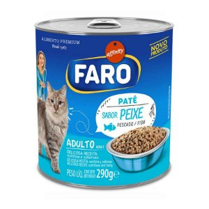 Ração Úmida Faro Affinity  Lata Patê Sabor Peixe para Gatos 290 g