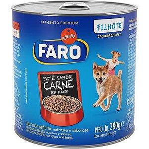 Ração Úmida Faro Lata Carne para Cães Filhotes 280 Gr