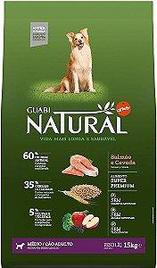 Ração Affinity Guabi Natural Salmão e Cevada para Cães Adultos Raças Média 2,5kg