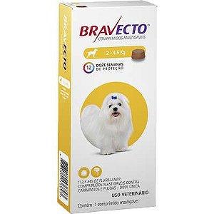 Antipulgas e Carrapatos MSD Bravecto para Cães de 2 a 4,5 Kg - 125mg