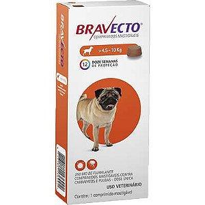 Antipulgas e Carrapatos MSD Bravecto para Cães de 4,5 a 10 Kg - 250mg