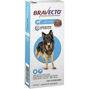 Antipulgas e Carrapatos MSD Bravecto para Cães de 20 a 40 Kg - 1000mg