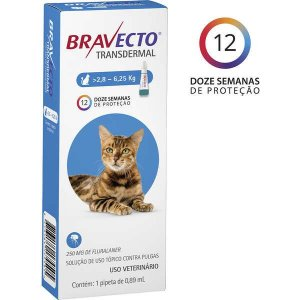 Antipulgas MSD Bravecto Transdermal para Gatos de 2,8 a 6,25 Kg - 250mg