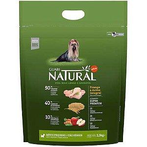Ração Affinity Guabi Natural Frango e Arroz Integral Cães Sênior Mini e Pequeno