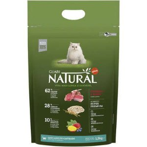 Ração Affinity Guabi Natural Cordeiro e Aveia para Gatos Adultos Castrados
