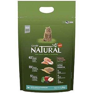 Ração Affinity Guabi Natural Salmão e Cevada para Gatos Adultos Castrados