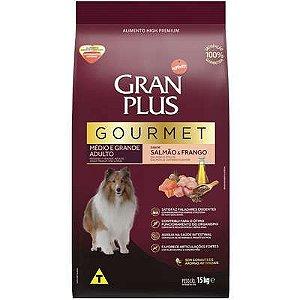 Ração Seca Affinity GranPlus Gourmet Salmão & Frango para Cães Adultos Raças Médias e Grandes 15Kg