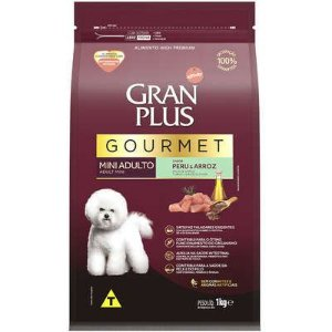 Ração Seca Affinity GranPlus Gourmet Peru & Arroz para Cães Adultos Raças Mini