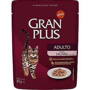 Ração Úmida Affinity GranPlus Sachê Salmão para Gatos Adultos 85 Gr